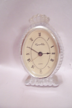 Lead Crystal Glass Quartz Clock
