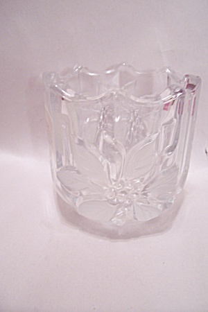 Mikasa Fine Crystal Glass 8-sided Candle Holder