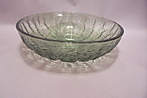 Green Pattern Glass Bowl