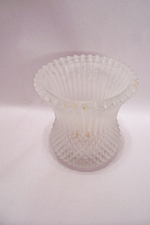 Victorian Era Satin Glass Candle Holder (Image1)