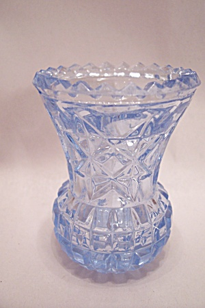 Star Of David Light Blue Glass Toothpick Holder (Image1)