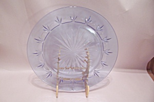 Light Blue Pattern Glass Dinner Plate