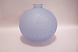 Light Blue Art Glass Bulbous Vase