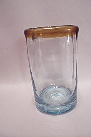 Handblown Square Art Glass Tumbler