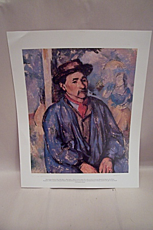 Man In Blue Smock Art Print By Paul Cezanne