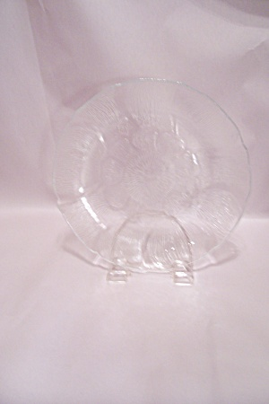 Crystal Pattern Glass Snack Plate