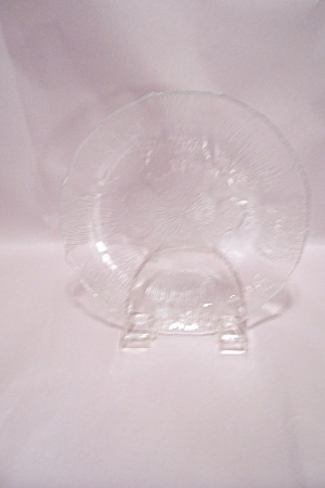 Crystal Pattern Glass Salad Plate