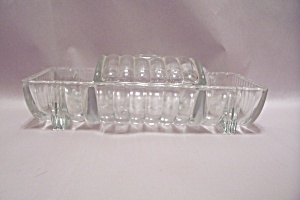 Crystal Glass Cigarette & Coaster Holder