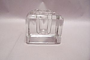 Crystal Glass Cube Candle Holder