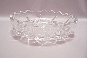 Crystal Pattern Glass Dessert/Berry Bowl (Image1)