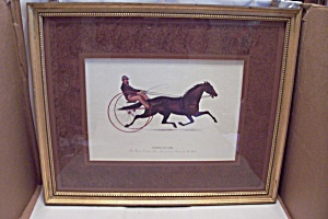 American Girl Trotting Horse Art Print