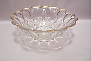 Crystal Thumbprint Pattern Glass Serving Bowl (Image1)