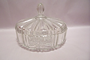 Fire King/Anchor Hocking Crystal Glass Candy Dish w/Lid (Image1)