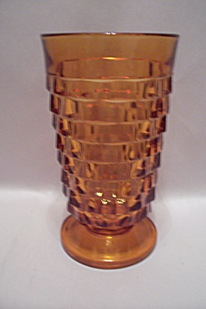 Indiana Glass Southhall Pattern Amber Glass Tumbler