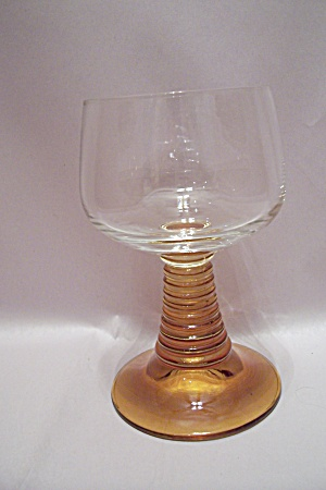 Crystal & Amber Wine Glass