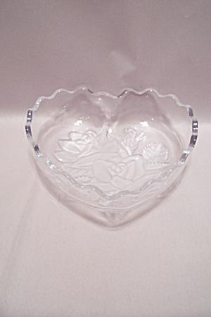 Crystal & Satin Glass Heart Shaped Dish (Image1)