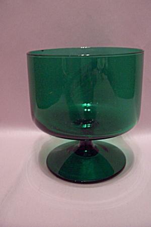 Anchor Hocking Forest Green Pedestal Bowl (Image1)