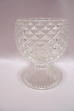 Crystal Glass Pedestal Candle Holder