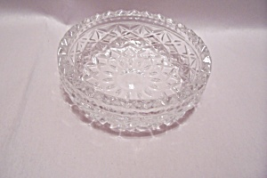 Small Lead Crystal Pattern Glass Dish