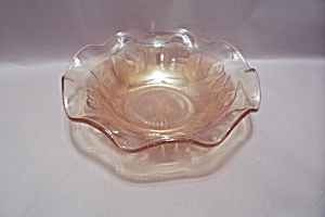 Iris Gold Tinted Atr Glass Folded Bowl