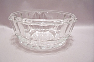 Crystal Pattern Glass Deep Candy Dish