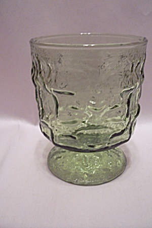 Green Pattern Glass Sherbets