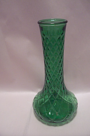 Hoosier Green Pattern Glass Vase