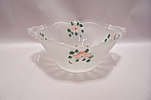 Hand Painted Satin Glass Bowl (Image1)