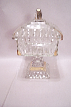 Crystal Glass Bride's Dish With Lid (Image1)