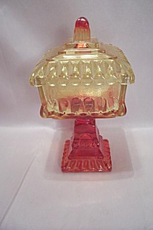 Amberina Glass Bride's Dish (Image1)