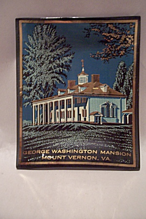 George Washington Mansion Souvenir Glass Dish