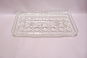 Crystal Pattern Glass Rectangular Tray