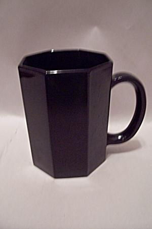 Black Glass Octagon Shaped Mug (Image1)
