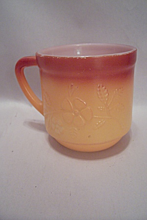 Two-toned Orange Glass Stackable Daisy Mug