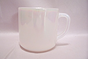 Federal Glass Company Opalescent White Glass Mug (Image1)