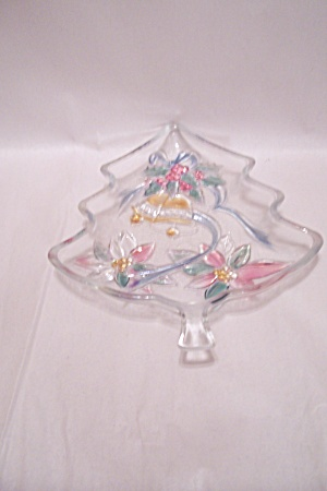 Crystal Glass Christmas Tree Dish