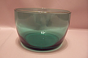 Greenish-blue Glass Bowl