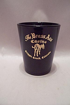 The Brass Ass Black Glass Souvenir Toothpick Holder (Image1)