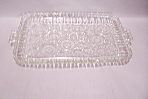 Crystal Pattern Rectangular Glass Tray