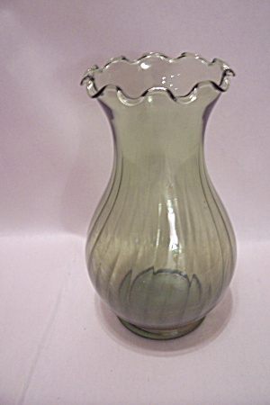 Green Handblown Art Glass Vase
