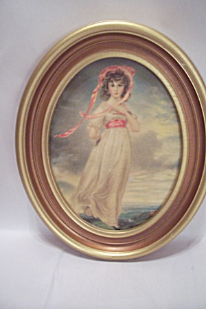 PINK GIRL Oval Framed Print (Image1)