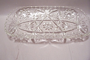 Fire King/anchor Hocking Eapc Crystal Glass Tray