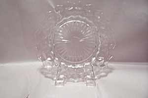 Crystal Glass Thumbprint Plate