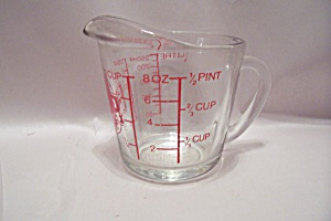 Fire King/Anchor Hocking Crystal Glass Measuring Cup (Image1)