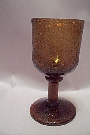 Handblown Amber Art Glass Pedestal Toothpick Holder (Image1)
