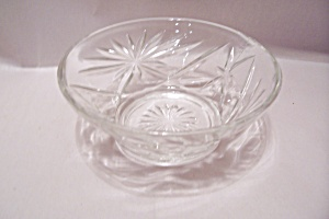 Fire King/anchor Hocking Eapc Crystal Glass Bowl