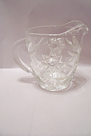 Fire King/anchor Hocking Eapc Crystal Glass Creamer