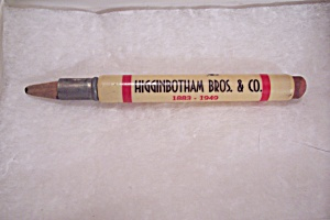 Higginbotham Bros. & Co. Bullet Pencil (Image1)