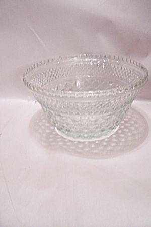 Fire King/anchor Hocking Wexford Glass Salad Bowl