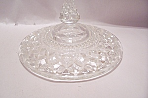Crystal Pattern Glass Candy Dish Lid